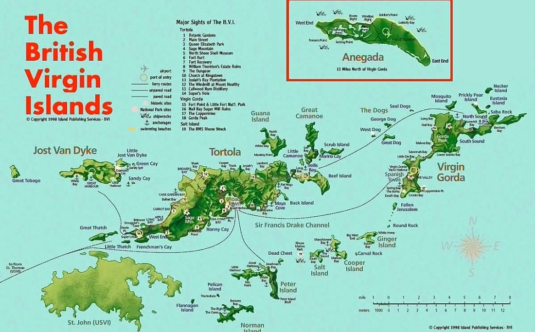 Iles vierges map